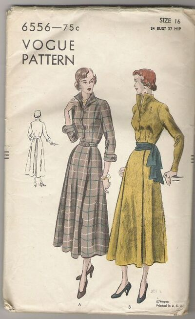 Vogue-6556-Dress-pattern-1949
