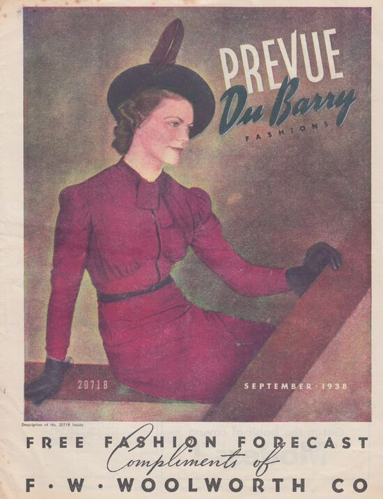 Dubarry Prevue September, 1938