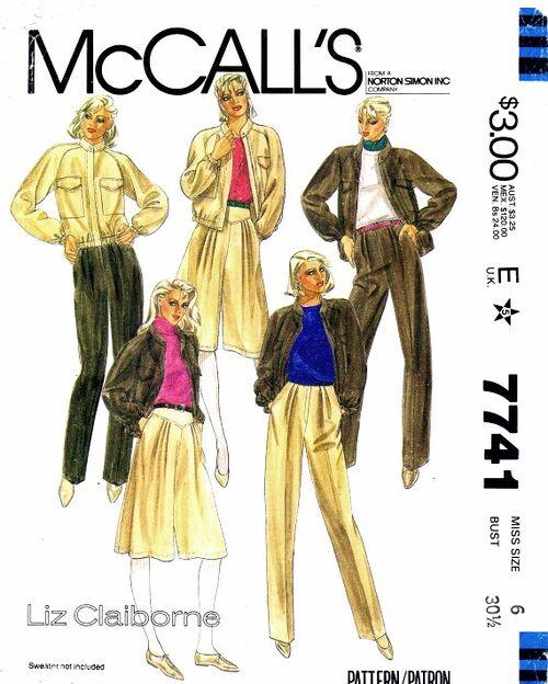 McCalls 1981 7741 F Size 6