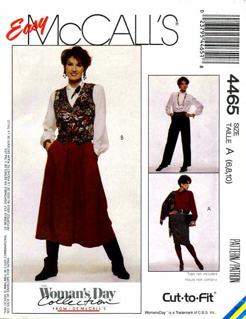 McCalls 1989 4465