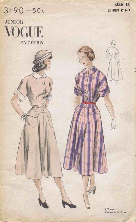 Vogue 1945 3190
