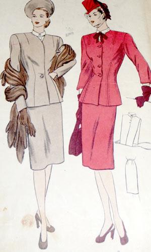 Vogue 5655 1940s WWII Suit image