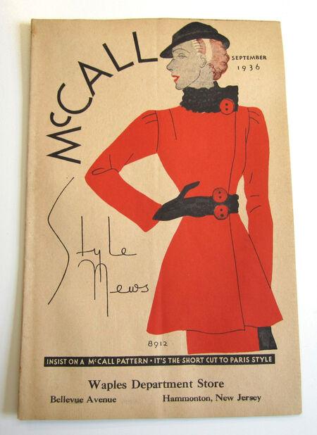 McCall Style News September, 1936