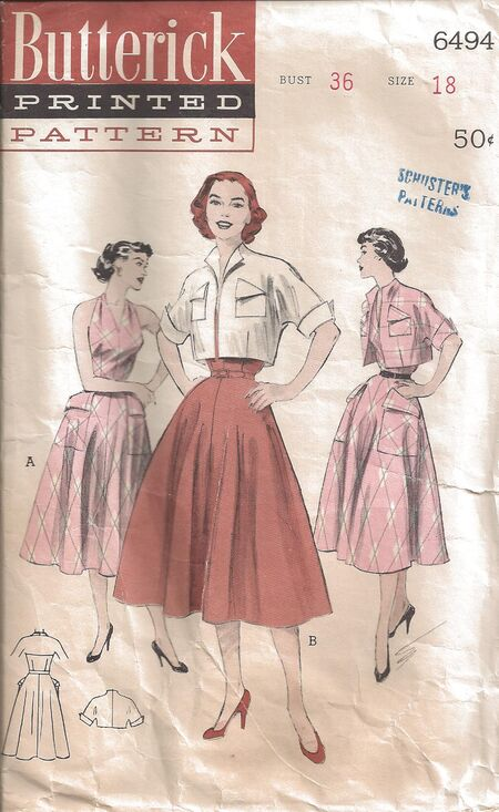 Butterick Pattern 6494 Front