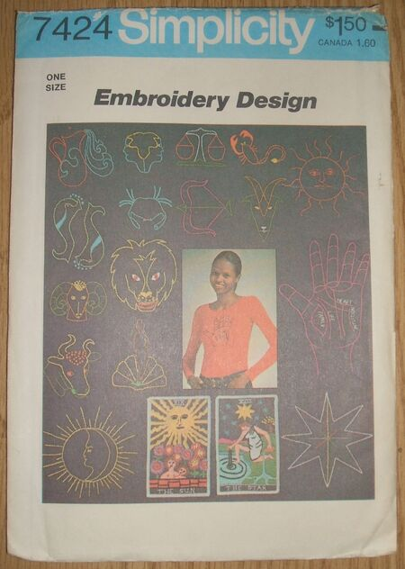 Simplicity Sewing Craft Pattern 7424 Embroidery Transfers (2)