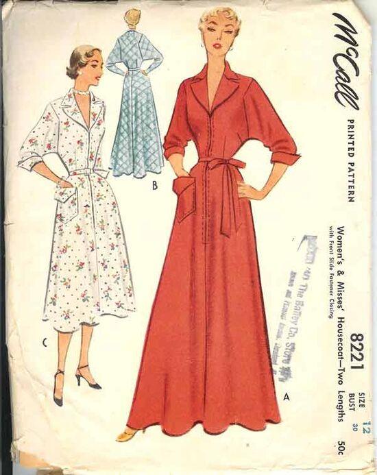 W-8221M 1950 Housecoat