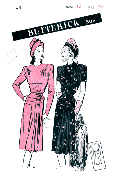 1946-Butterick3664-Front