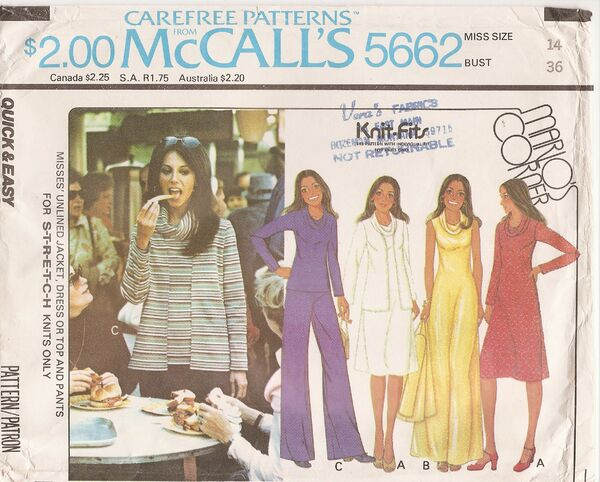 McCall's 5662A image