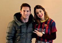 Tini Stoessel with Lionel Messi