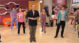 Studio dance class