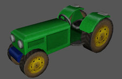 Tractor green skin