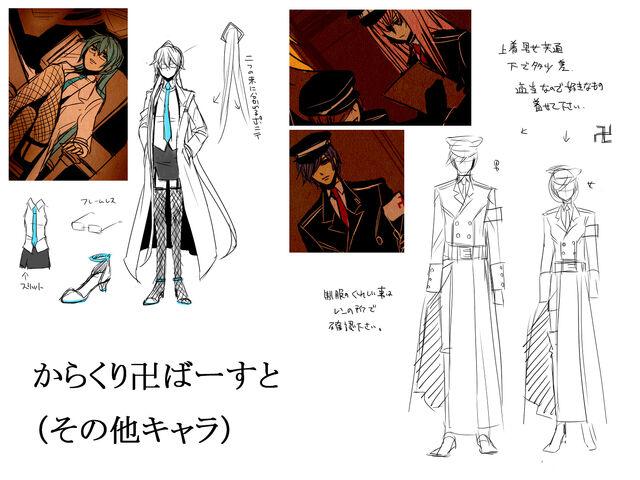 File:Concept art Karakuri Burst other characters.jpg