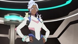 53. Allura suited up with mice on shoulders