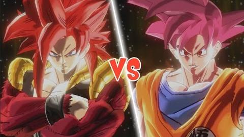 video ssjg goku vs ssj4 gogeta dragon ball super vs gt