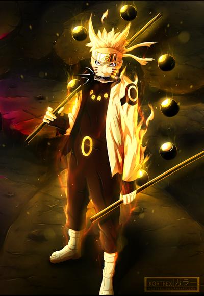Naruto with Asura power