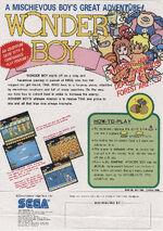 Wonder Boy arcade flyer