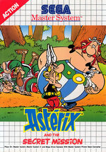 Asterix and the Secret Mission SMS box art