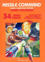 Atari 2600 Missile Command box art