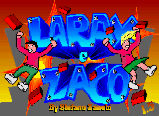 File:Larax e Zaco DOS title screen.png