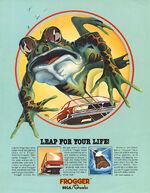 Frogger arcade flyer