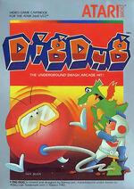Atari 2600 Dig Dug box art