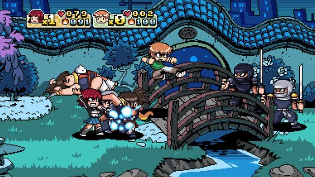 File:Scottpilgrimvstheworldthegame screenshot world4 fightinthegarden.jpg