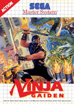 Ninja Gaiden SMS box art