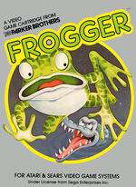 Atari 2600 Frogger box art