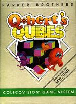 Qbert Qubes Colecovision cover