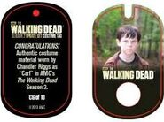 The Walking Dead - Dog Tag (Season 2) - Chandler Riggs C6 (AUTHENTIC WORN COSTUME PIECE)