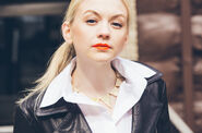 Emily Kinney looking at us like a boss with her cool fashion