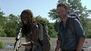 Rick and Michonne Laughing 7x12 Say Yes
