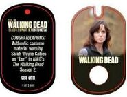 The Walking Dead - Dog Tag (Season 2) - Sarah Wayne Callies CR8 (AUTHENTIC WORN COSTUME PIECE)