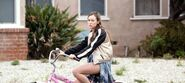 Alicia on bike