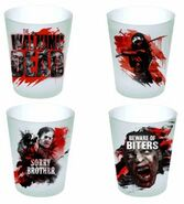 Walking Dead Shot Glass Set of 4