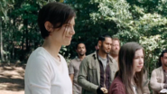 Maggie Rhee Smiling with Enid and Eduardo 7x14