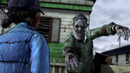 AmTR Clementine fights Walker in Trailer Park