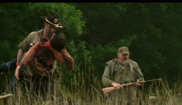 File:Rick Grimes & Carl Grimes & Otis (TV) 1.png
