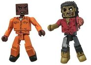 Walking Dead Minimates Series 3 Dexter & Dreadlock Zombie 2-pk