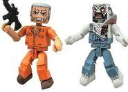 Walking Dead Minimates Series 3 Hershel & Farmer Zombie 2-pk