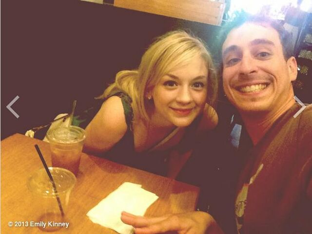 File:Emily Kinney with some guy in a cafe.JPG
