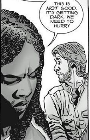 File:Michonne and Aaron.png