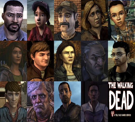 File:The Walking Dead Video Game Characters.png