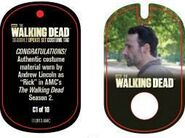 The Walking Dead - Dog Tag (Season 2) - Andrew Lincoln C1 (AUTHENTIC WORN COSTUME PIECE)
