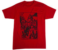 """THE WALKING DEAD """"BLOOD RED"""" T-SHIRT"""