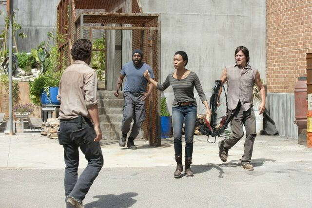 File:Rick daryl tyreese sasha (Infected).jpg