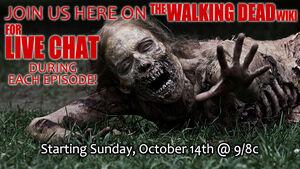 Walking Dead Live Chat Banner 2012