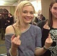 File:Emily giving f you again with both her hands and a girl fan.jpg