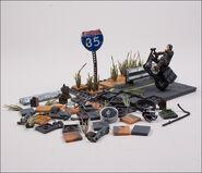 Daryl Dixon with Chopper (The Walking Dead TV) McFarlane Building Set 5