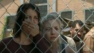 Maggie and Beth looked shocked at Hershel's captured